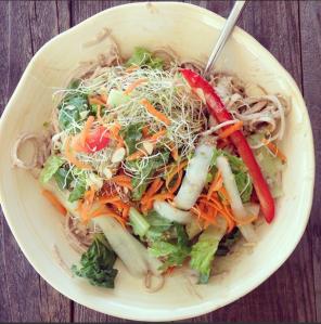 soba noodle salad mmm instagram: kittypurrin